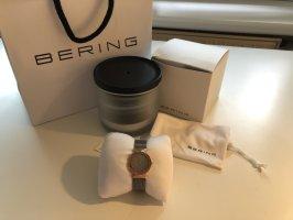 Bering Horloge met metalen riempje roségoud-zilver