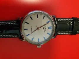 Watch With Leather Strap multicolored