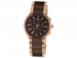 Jacques Lemans Digital Watch rose-gold-coloured-brown