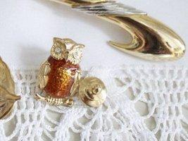True Vintage Broche bruin-goud