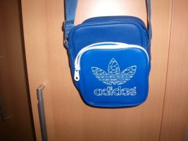 Adidas Sac de sport bleu fluo faux cuir