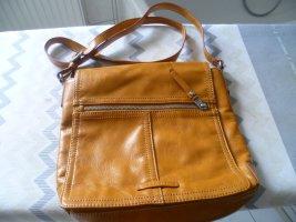 Umhängetasche Schultertasche, sportliche Tasche Leder cognac von Esprit