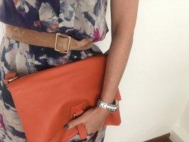 Borse in Pelle Italy Shoulder Bag neon orange leather