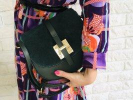 Umhängetasche Tasche Handtasche Leder neu waldgrün