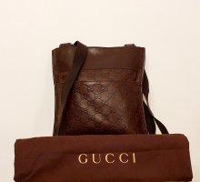Gucci Crossbody bag dark brown leather