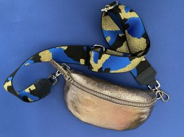 Borse in Pelle Italy Crossbody bag oatmeal-blue leather