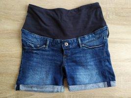 H&M Mama Short en jean bleu-bleu foncé