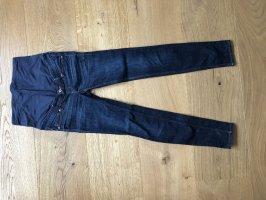 H&M Mama Spodnie rurki ciemnoniebieski