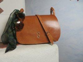 True Vintage Bolsa Hobo marrón claro-marrón arena Cuero
