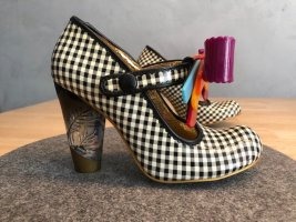 UNGETRAGEN –Irregular Choice – Love You Gingham Bow Shoes, Rockabilly