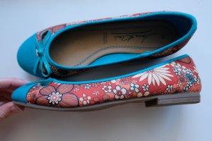 Jane Klain Ballerina pieghevole blu-rosso