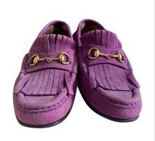 Gucci Mocassins violet cuir