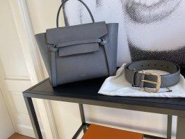 Gucci Leather Belt grey-dark grey leather
