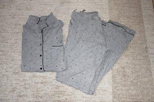 Hunkemöller Pyjama zilver-zwart Viscose