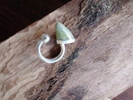 Silver Ring lime-green real silver
