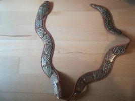 "Unikat: Handgefertigt in Italien, Gürtel ""SCHLANGE"", bewegte Elemente, Echtleder, 100 cm lang"