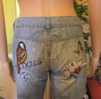 Diesel Industry Low Rise Jeans azure-cornflower blue cotton