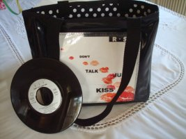 Unikat-Tasche mit Original Single - don`t talk just kiss