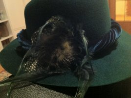 Felt Hat forest green wool