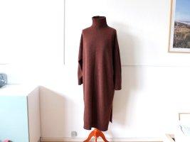 Uniqlo Kleid Gr. L 40 Wolle braun turtleneck