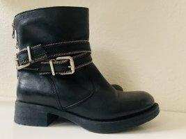 Unisa boots biker boots Stiefeletten Stiefel Winter Leder schnalle 36