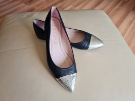 Unisa Ballerinas with Toecap black-silver-colored