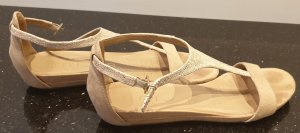 Unisa T-Strap Sandals oatmeal