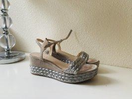 Unisa Sandales à plateforme gris clair-argenté