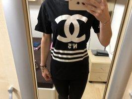 Homme Femme Paris Camisa holgada negro-blanco