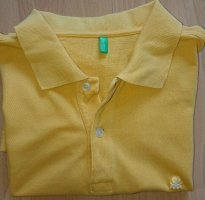 United colors of Benetton, Poloshirt, Gr. L, Sonnen Gelb, Damen, Piqué