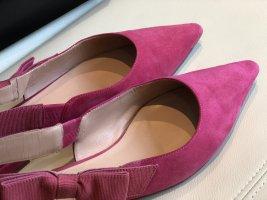 Unützer Slingback ballerina's roze Suede