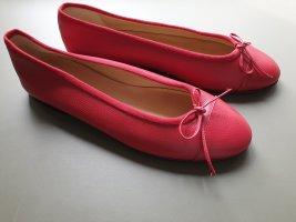 Unützer Bailarinas con punta rojo Cuero