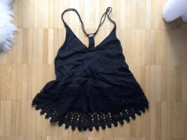 Urban Outfitters Camisole Top Spitze Schwarz XS