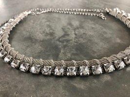 Urban Outfitters Einzigartig hochwertige luxuriöse glamouröse sexy glänzende Silber Strass Halskette Schicke Kette