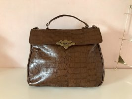 Urban Outfitters Shoulder Bag dark brown-gold-colored imitation leather