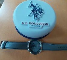 Us Polo ASSN Montre avec bracelet en cuir gris