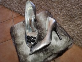 Gianni Bini Peep Toe Pumps silver-colored-anthracite