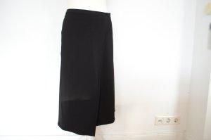 UVP$360 HELMUT LANG Staggered Seam Skirt Rock NEU! 38 M schwarz Traum Basic!
