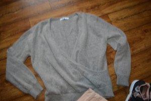 V-Neck Overlap Knitted Sweater lgrau Gr. 38 NA-KD