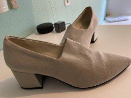 Vagabond Wingtip Shoes silver-colored-light grey