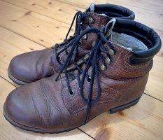 Vagabond Leder Schnürstiefel braun Damen Ankle Boots 38 Winter Schnee warm
