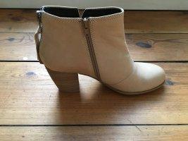 Vagabond NEU Pistol boots Ankle leather booties Stiefeletten echt Leder creme beige nude stiefel