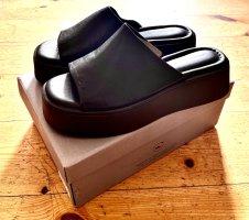 Vagabond Platform Sandals black leather