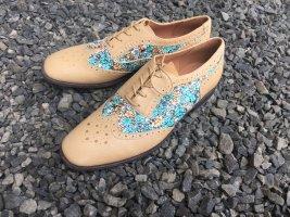 Vagabond Lace Shoes cognac-coloured-mint