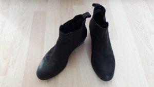Vagabond Wciągane buty za kostkę czarny Skóra