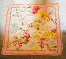 Valentino 100% Silk Floral Tuch caree foulard Seidentuch 85x85 rosa
