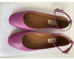 Valentino Garavani Ballerines à lacets violet cuir