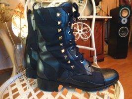 VALENTINO GARAVANI ROCKSTUD Spike Camouflage Boots Stiefel 38 schwarz