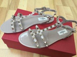 C. Valentino Strapped Sandals camel mixture fibre