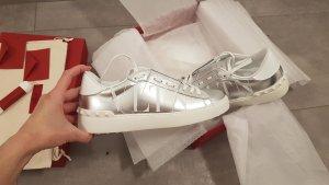 Valentino Garavani Instapsneakers zilver Gemengd weefsel